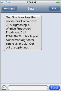 Clever SMS Marketing Examples Spa
