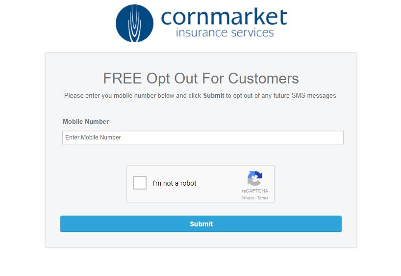 cornmarket opt-out